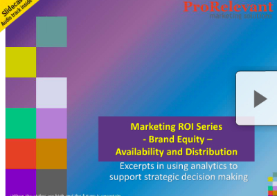 Marketing ROI Series – Brand Equity – Availability