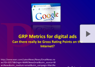 GRP Metrics for Digital Ads
